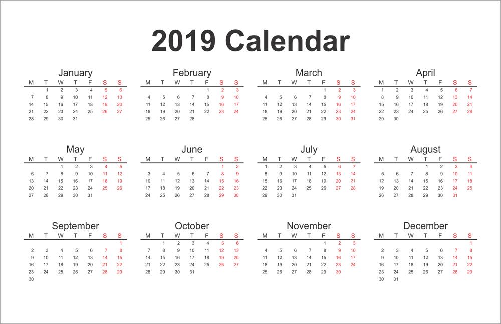 2019 printable calendar calendar2019 printablecalendar