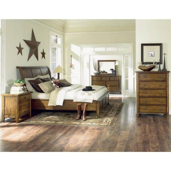 Cross Country Sleigh Queen Bedroom Group Aspen Furniture Star