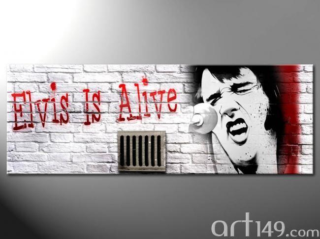 """Wandbild """"Elvis is alive"""""""