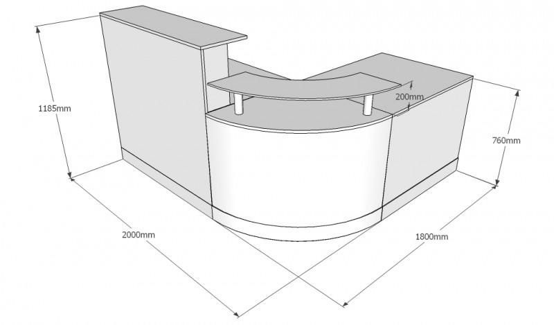 Fusion Curved Quadrant Reception Desk Back Reception Desk Dimensions Reception Desk Reception Desk Height