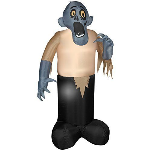 Animated Shaking Inflatable Zombie Halloween Yard Decoration by - animated halloween decorations