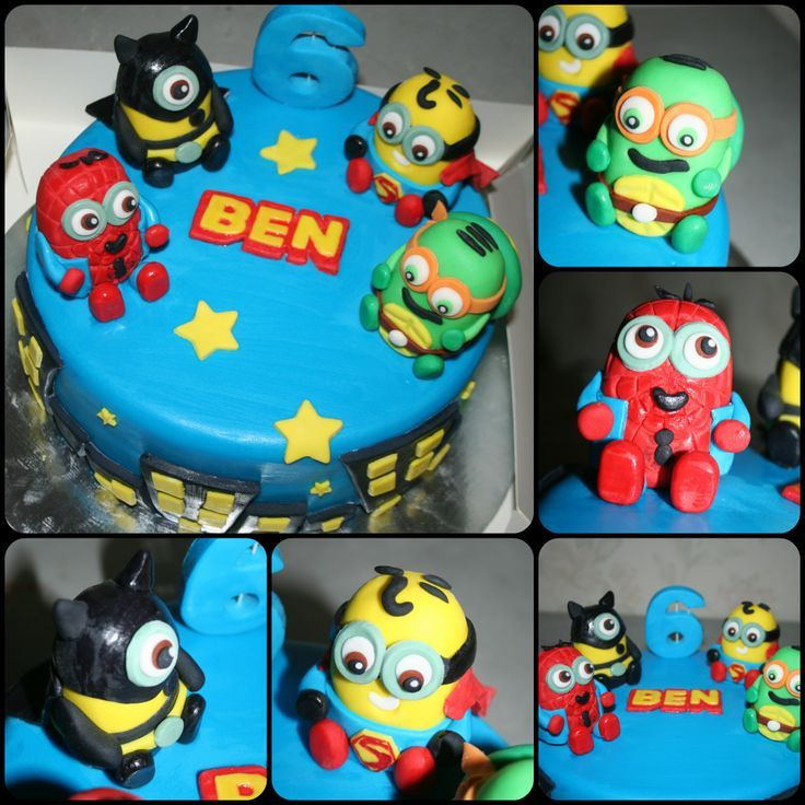 super hero Minion cake | Superhero Minions I love love ...