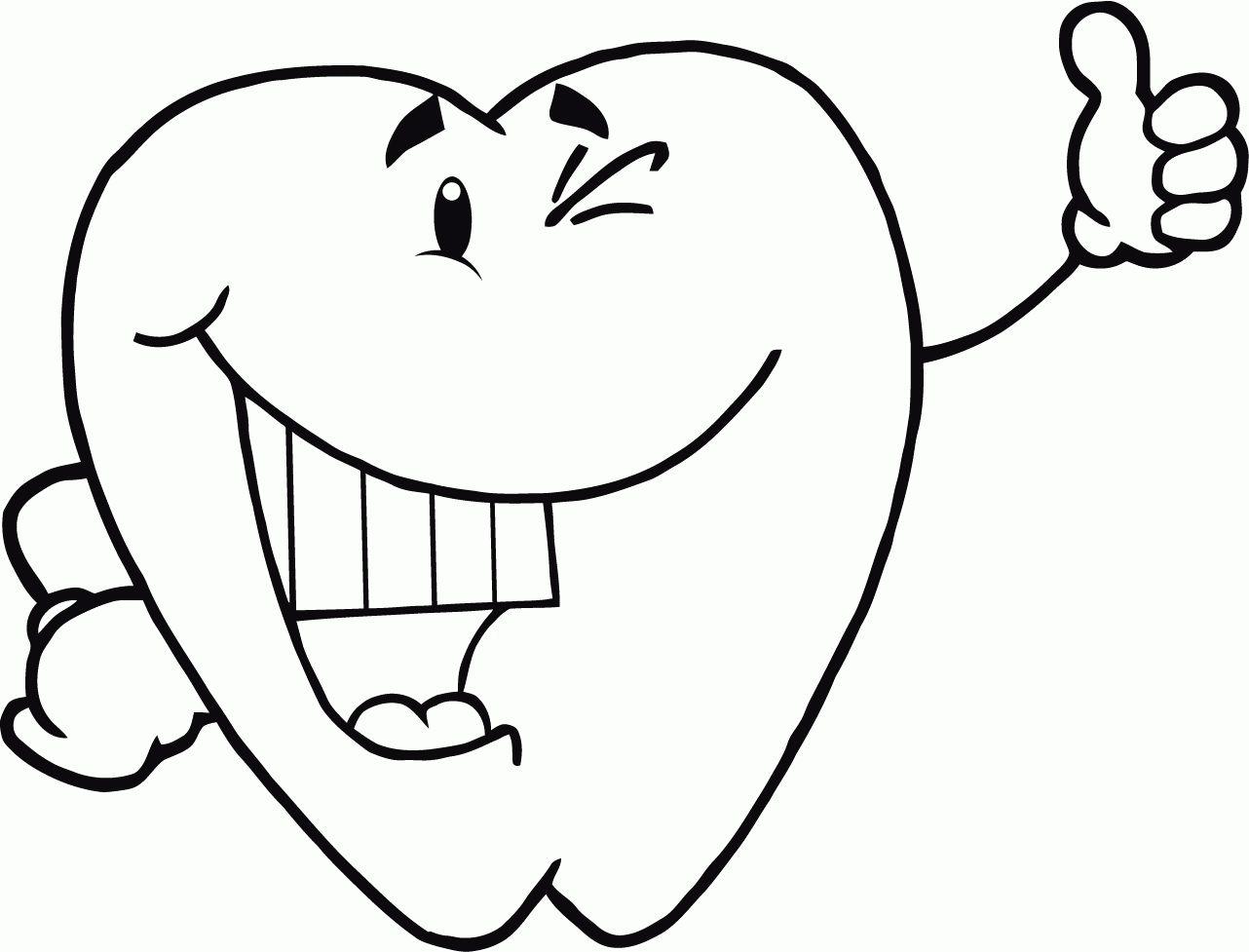 Ausmalbilder Zahne Zahnpflege Und Zahnfee