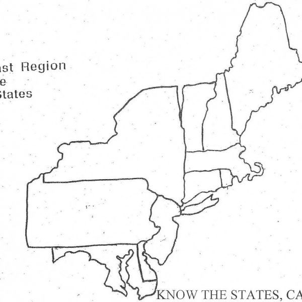Northeast Region Map Printable northeast map with states and ...