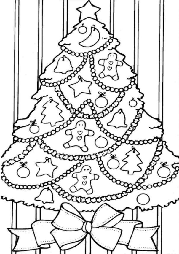Árvores de Natal para Imprimir e Pintar | Árvores de Natal para ...