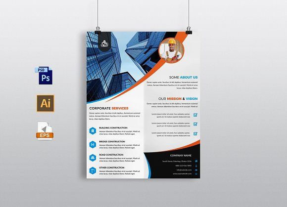 Construction Flyer Template Flyer Template Template And Business