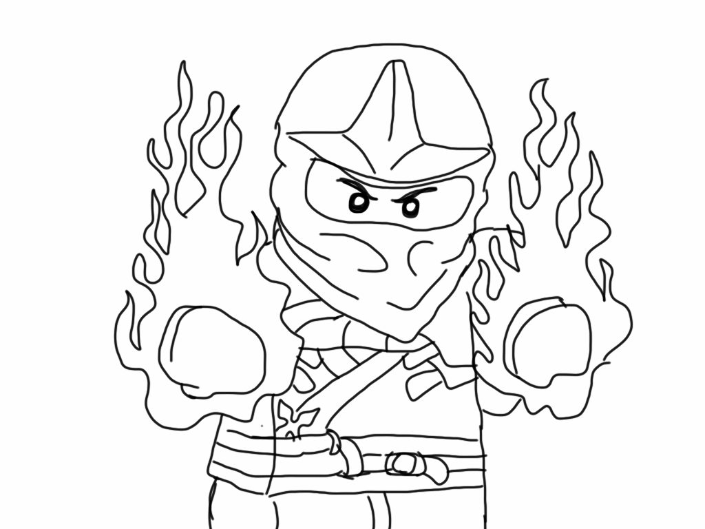 It is an image of Satisfactory ninjago coloring picture