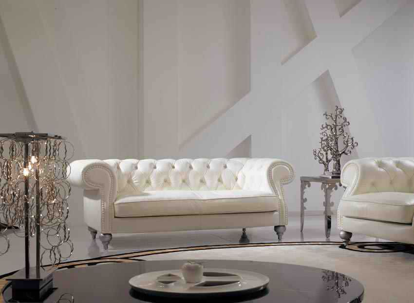 Aliexpress Com Buy High Grade Ivory Color Genuine Leather Living Room Sofa Set Luxury Chesterf Genuine Leather Sofa Leather Sofa Set Leather Sofa Living Room