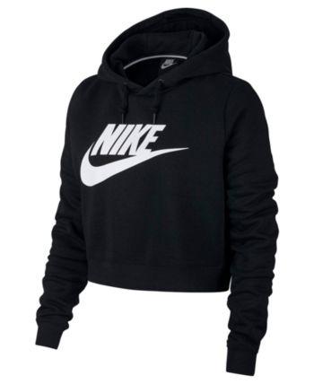 8ea6b497b3f2 Nike Sportswear Rally Logo Cropped Fleece Hoodie - Gray L in 2019 ...