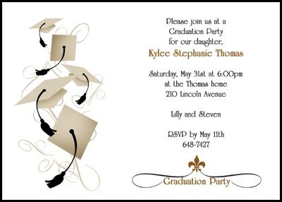 Graduation Party Invitations for Middle School 8th Grade and – Invitation to Graduation Party