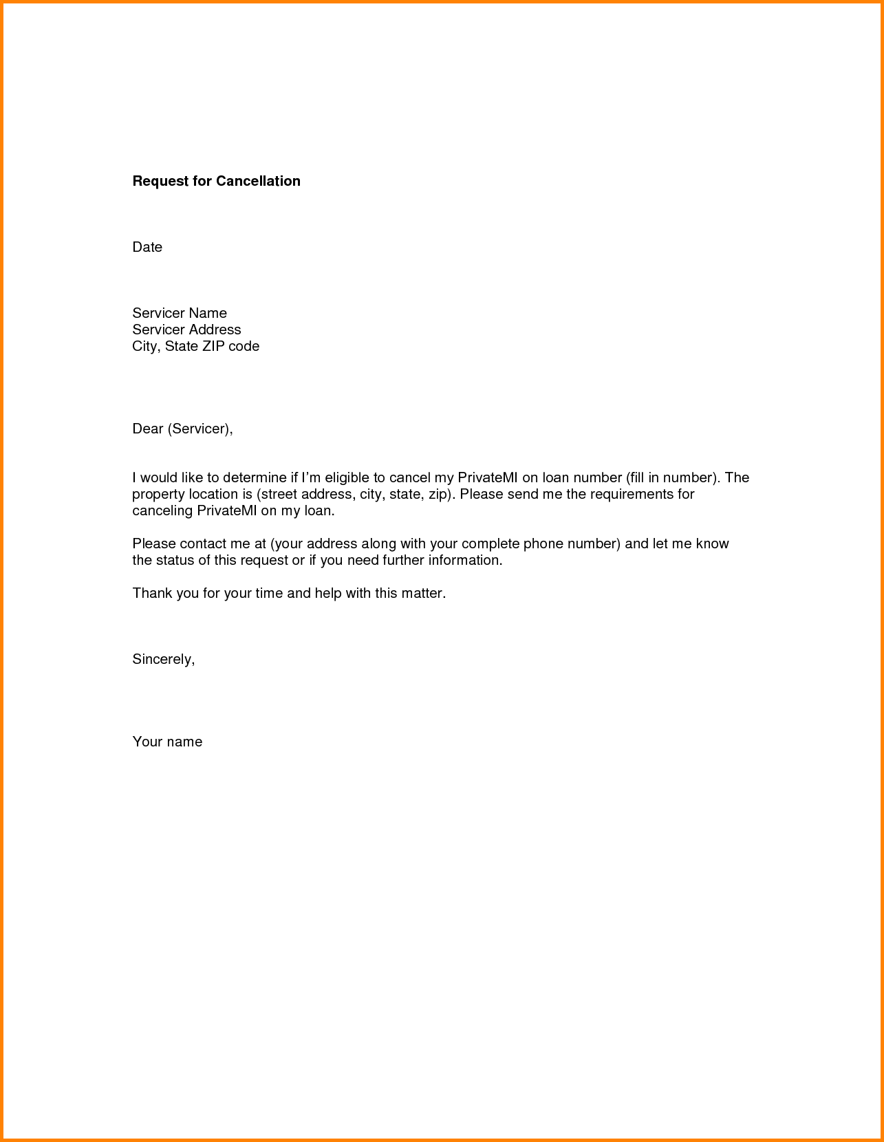 Cancellation Letter Samples Writing Http Docstoc Docs Sample Free