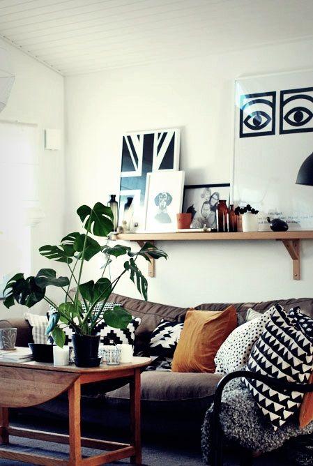 Nordic Bliss House Plants Against Naturals And Bold Prints Med Billeder Hjem Huse Inspiration