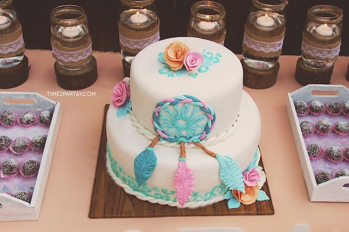 Dream Catching Baby Shower Boho Hippie Gypsy Pinterest Dream Adorable Dream Catcher Baby Shower Cake
