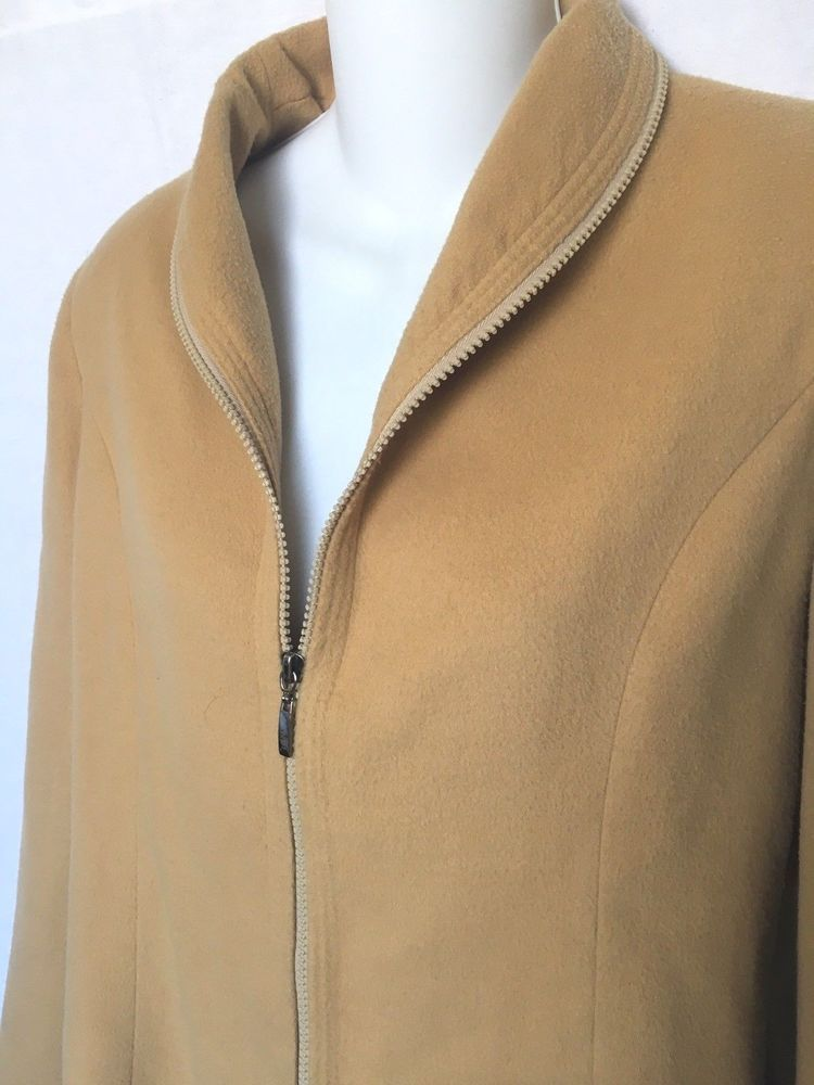 c2228ded VINTAGE FENDI 100% Cashmere Zip Front Short Jacket Camel Color Made ...