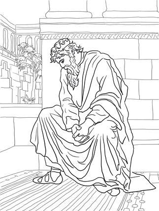 David Huilt Over De Dood Van Absalom Bible Coloring Pages Bible Coloring Coloring Pages