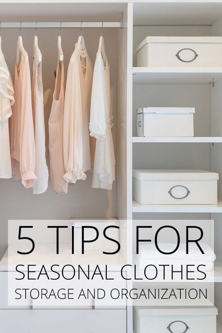 5 Tips For Seasonal Clothes Storage And Organization | Organizing Ideas |  Pinterest | Clothes Storage, Organizations And Storage