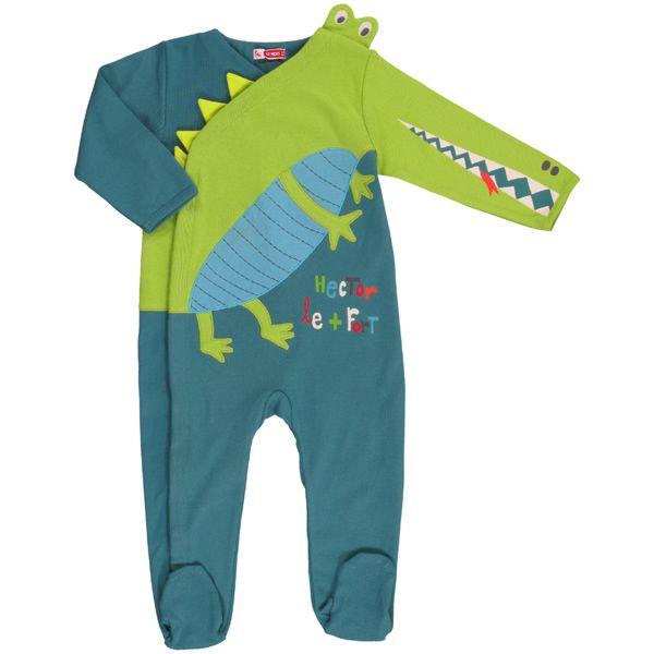 Du Pareil ...au meme Sleepsuit ... the crocodile is so fun.