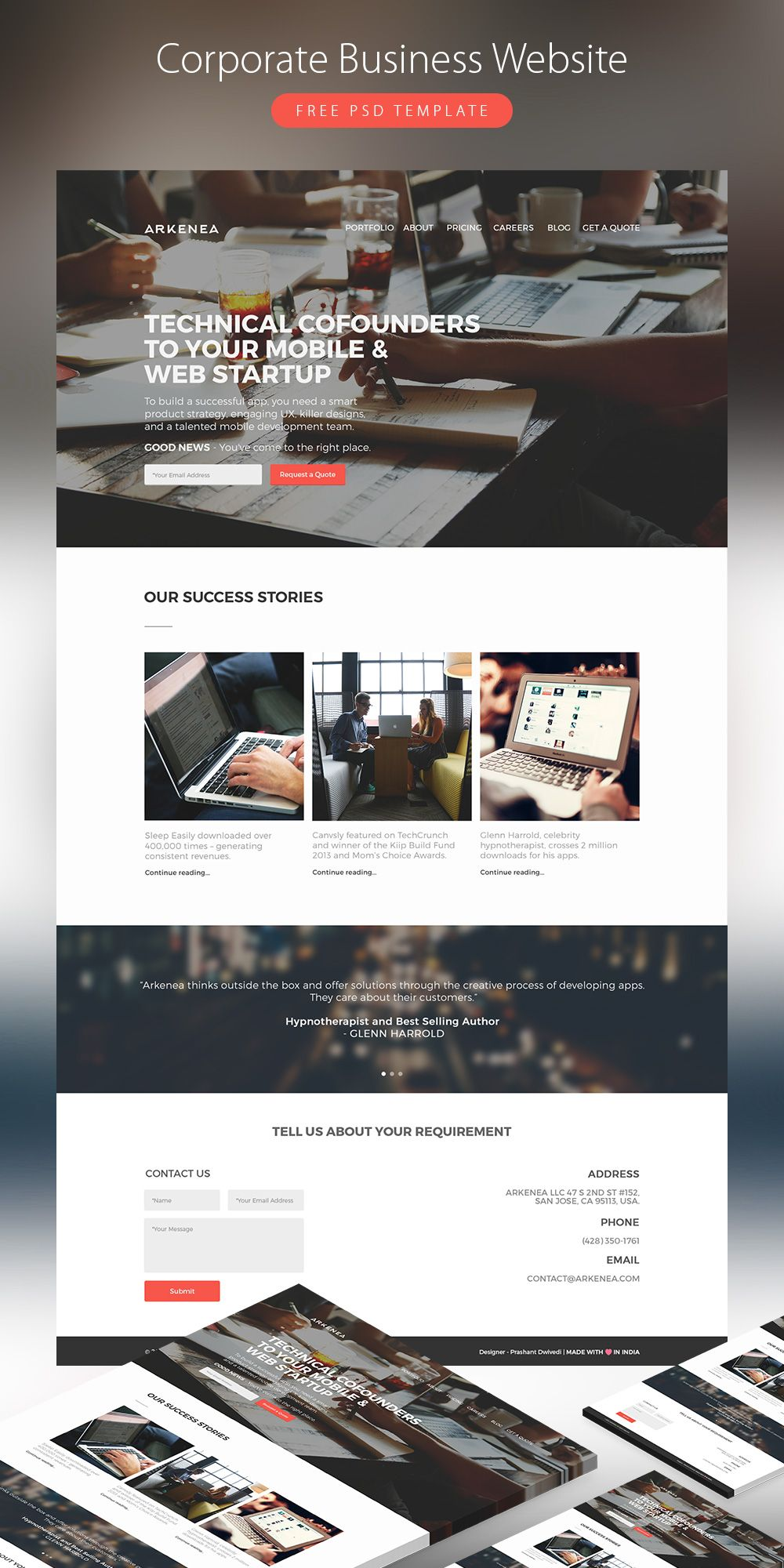 Awesome corporate business website template free psd corporate website awesome corporate business website template free flashek Choice Image