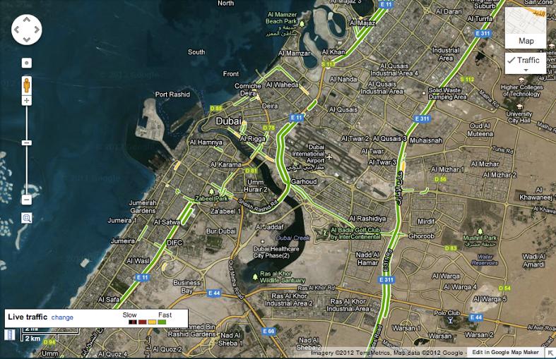 Google Maps Adds Traffic In UAE, Kazakhstan, Expands In US