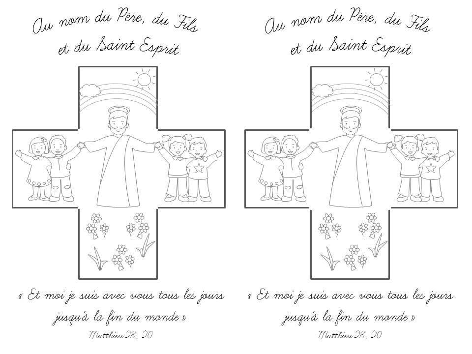 Coloriage croix pour la f te de la sainte trinit ann e b eveil la foi bricolages et - Image religieuse gratuite a imprimer ...