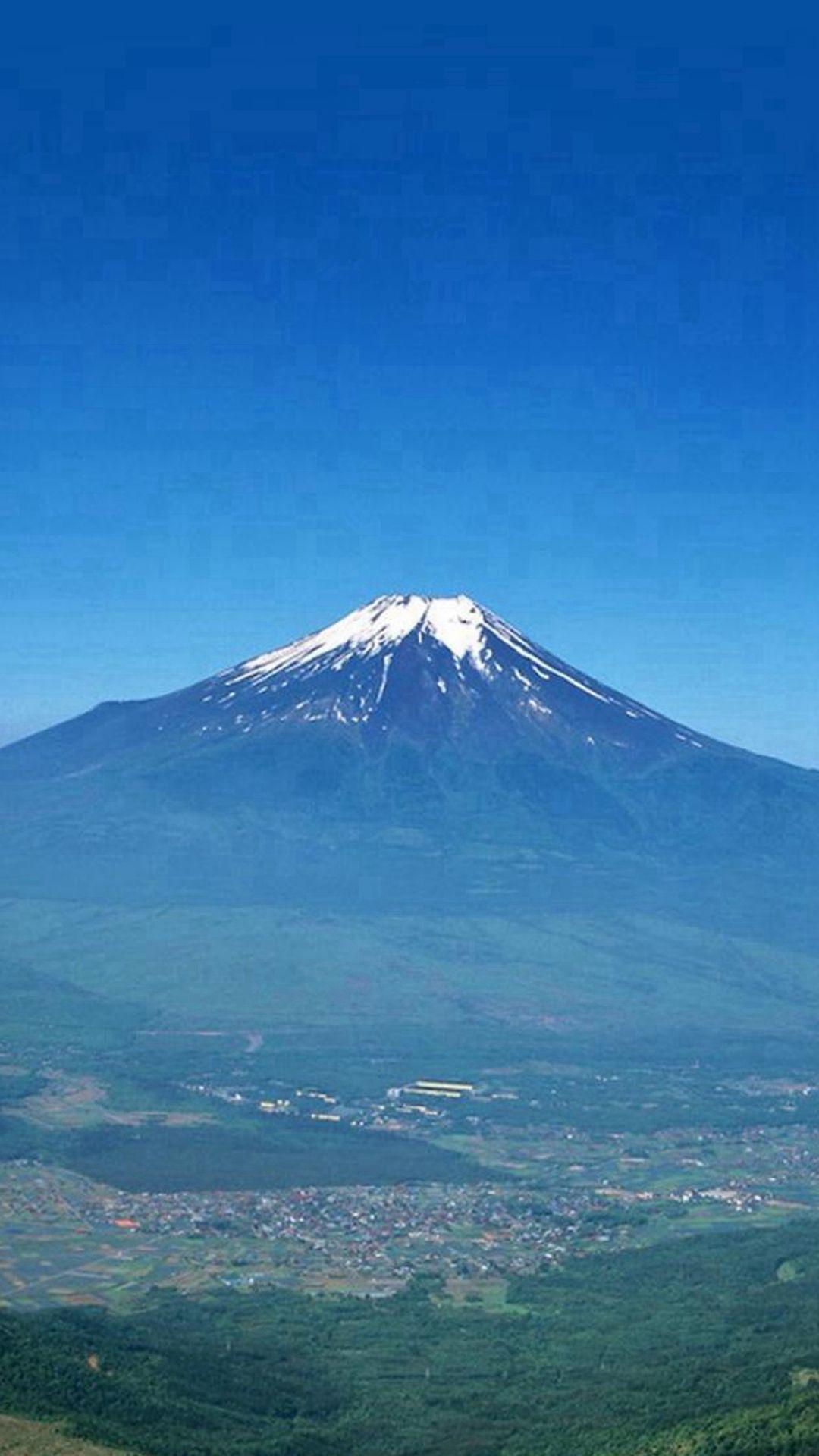 Nature Volcano Mountain Remote Scenery Plain Land iPhone 8