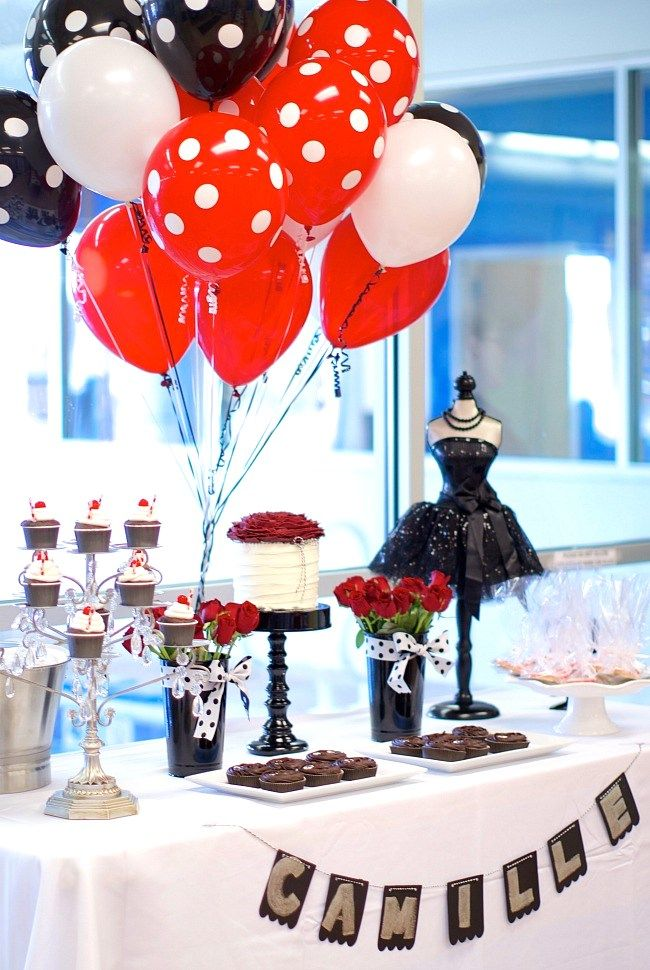 Black White Red Birthday Party Guest Feature Red Birthday