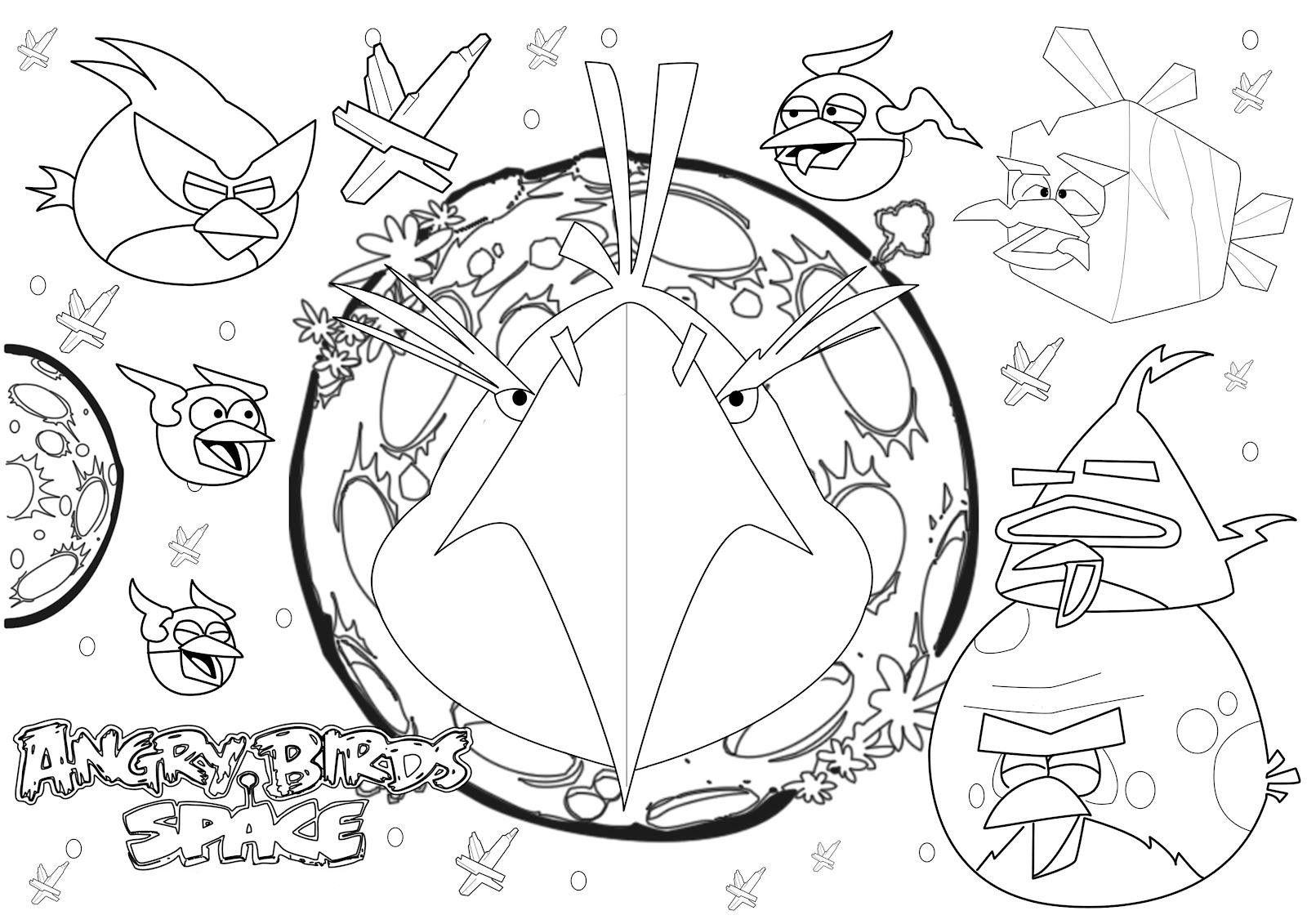 Angry Birds 7 Ausmalbilder für Kinder. Malvorlagen zum ausdrucken