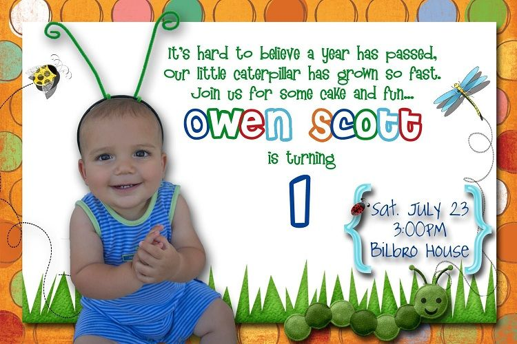 First Birthday Invitation Wording From Baby