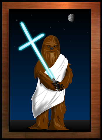 Wookiee Jesus - Signed Print - The Oatmeal