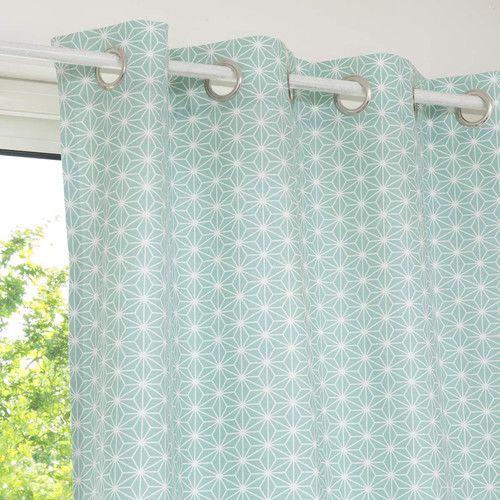 tenda con motivi in cotone blu 110 x 250 cm ivy maisons du monde tappezzerie e tessuti. Black Bedroom Furniture Sets. Home Design Ideas