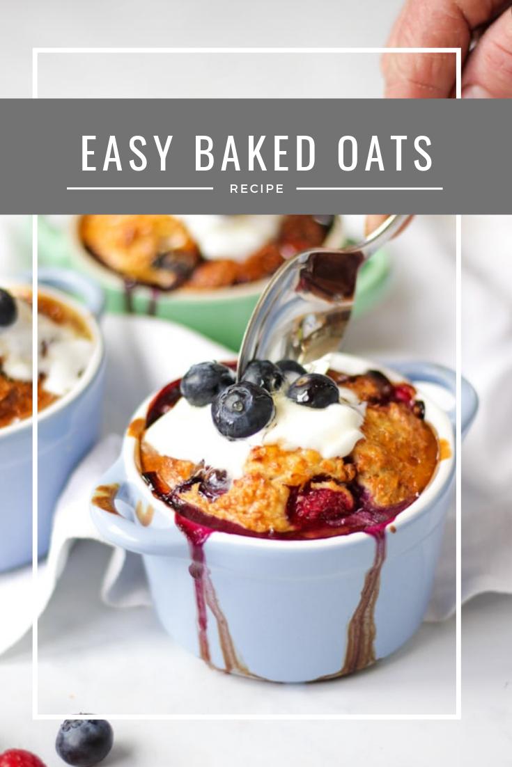 Easy Baked Oats Oat Recipes Healthy Breakfast Easy Baking Baked Oats Slimming World