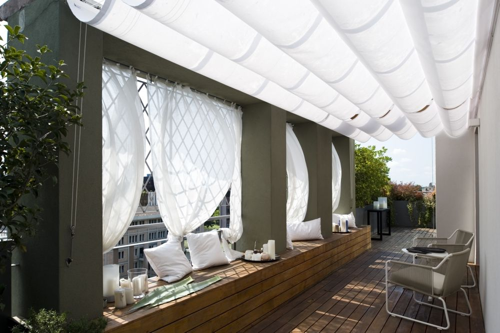Pergole pavilion Med Gc, pergole Gibus tip falduri pentru terase si