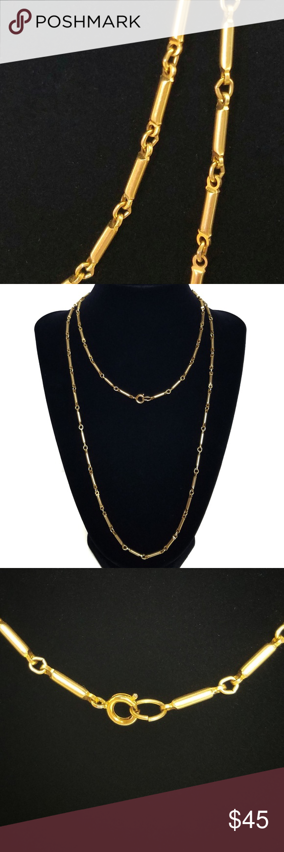 Long Tube Chain 14kgp Necklace Womens Fashion Jewelry Fashion Jewelry Gold Jewelry Fashion