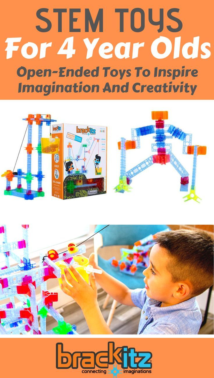 STEM toys for 4 year olds and preschool-aged kids lay the ...