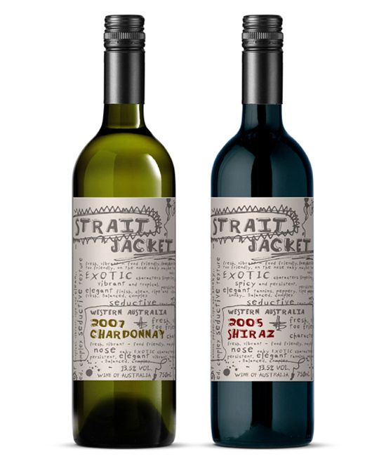 """wine -- love the """"messiness"""" of these labels, makes them so fun and unique looking"""