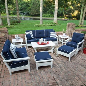 7 Piece Deep Seating Set By Ivy Terrace In White Navy