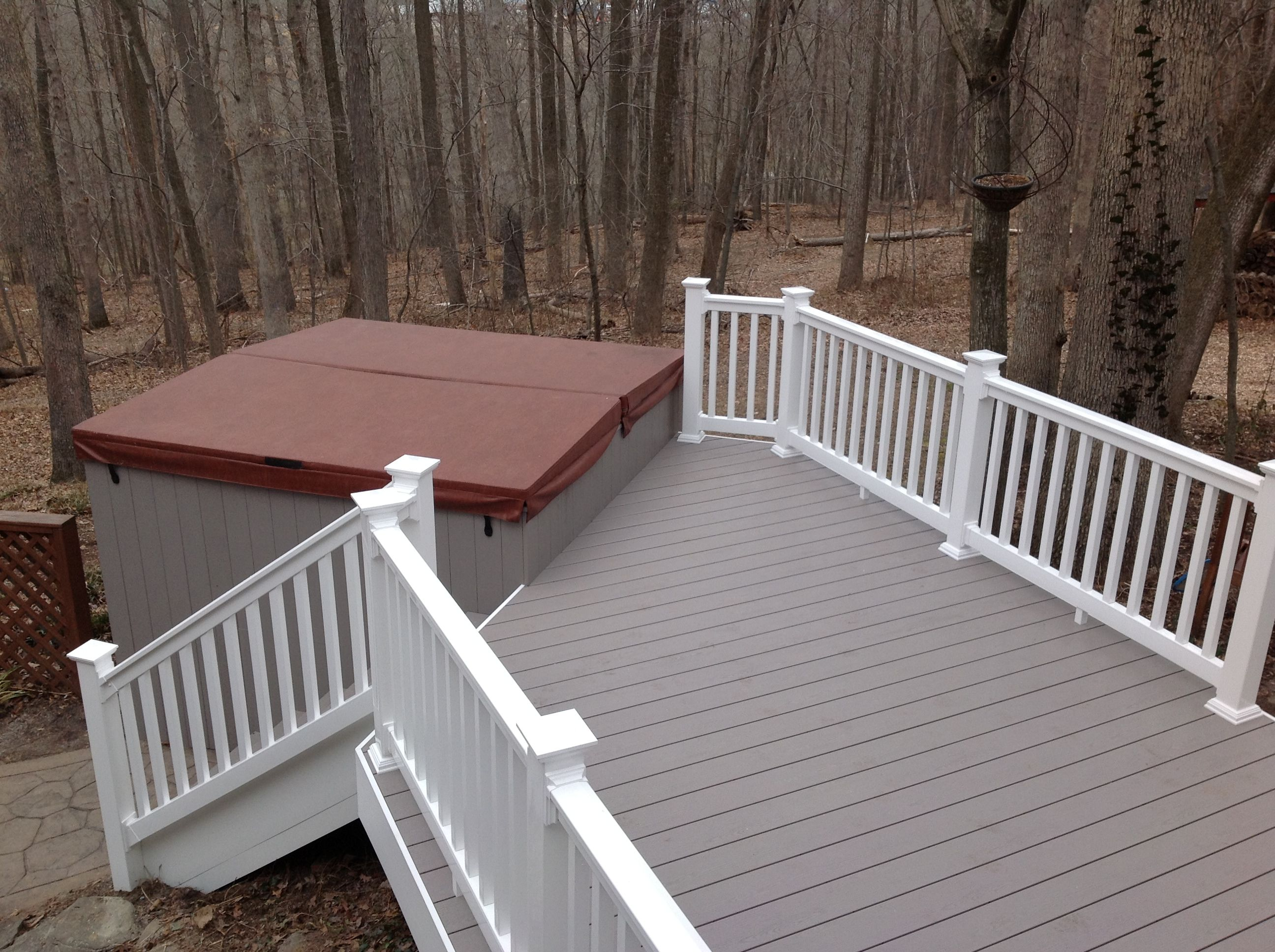 Vinyl Deck Using Clubhouse Cobblestone Flooring Decks And Porches