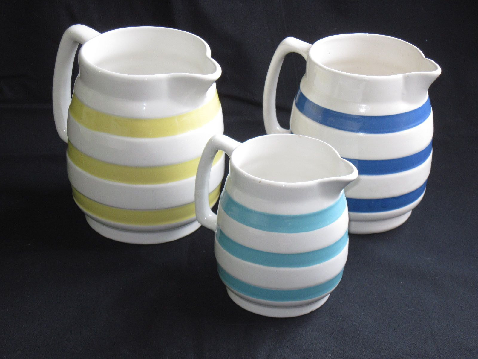Striped Carrigaline Pottery From Ireland Vintage Dishware Vintage Dishes Pottery