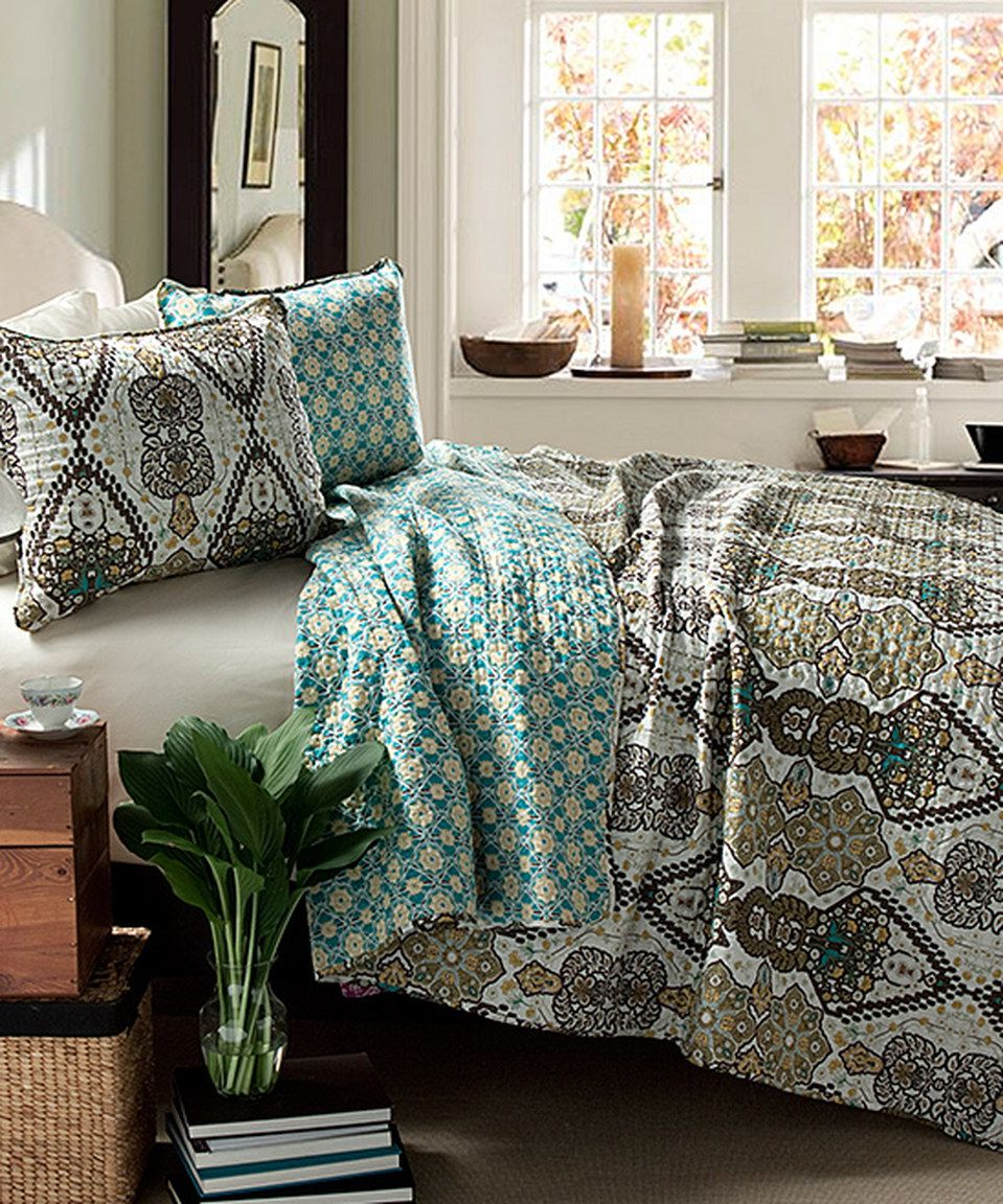 Look what I found on #zulily! Sage Nora Quilt Set by  #zulilyfinds