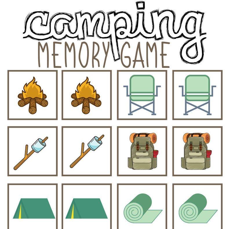 Camping Printables For Kids Summer Camp Printables All About Etsy Camping Printables Camping Activities For Kids Summer Camps For Kids Camping themed worksheets
