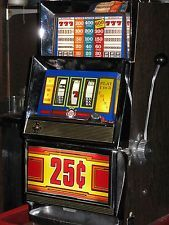 ANTIQUE VINTAGE BALLY'S SLOT MACHINE'  ( CLEAN AND IN GREAT SHAPE! )