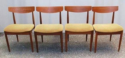 G Plan Danish Dining Chairs By Ib Kofod Larsen (image Heart Of Oak