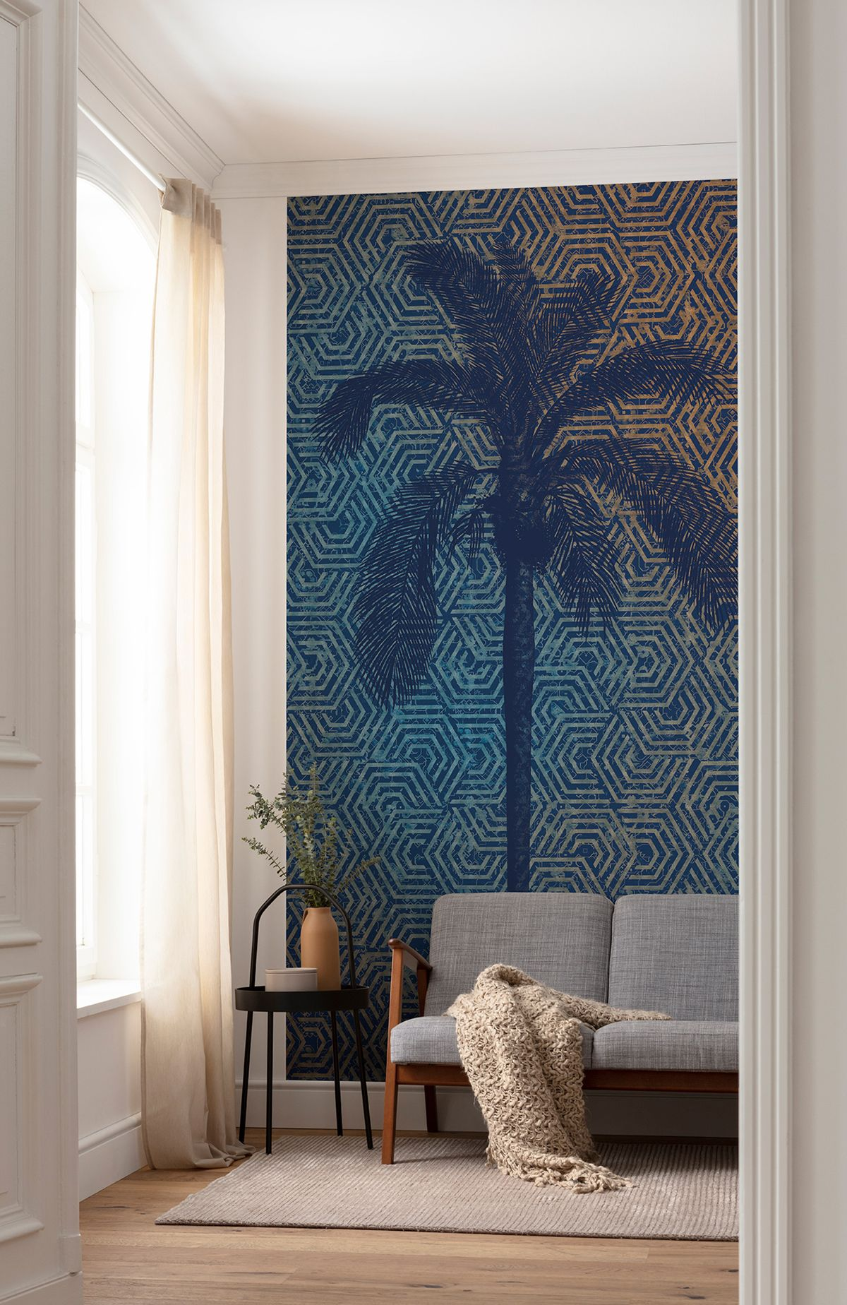 Papier Peint Motif Nature papier peint panoramique palmier silhouette - papier peint
