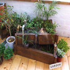 Indoor Garden Box details about indoor floor garden water fall fountain plant box