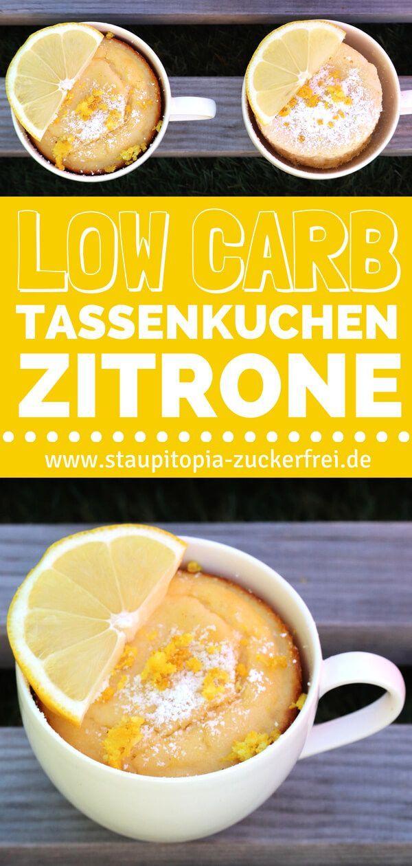 Low Carb Tassenkuchen Zitrone ohne Zucker - Staupitopia Zuckerfrei