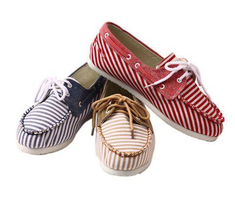 Summer Stripes Slip-ons from LeBunnyBleu