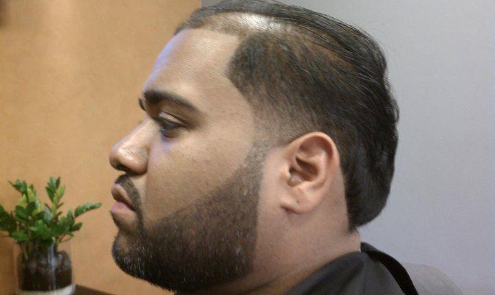 Bespoke Barbershop Scissor Cut W Taper Razor Line Beard 419 North