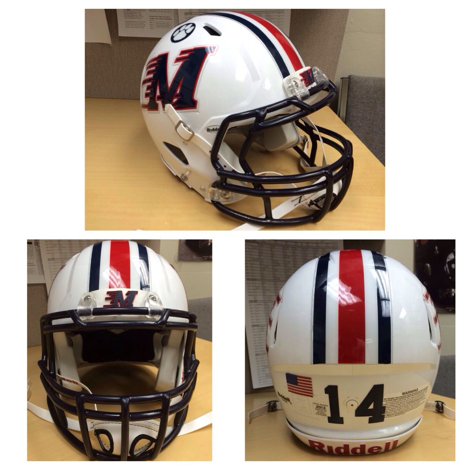 Check out the new football helmet decals for marshalltown