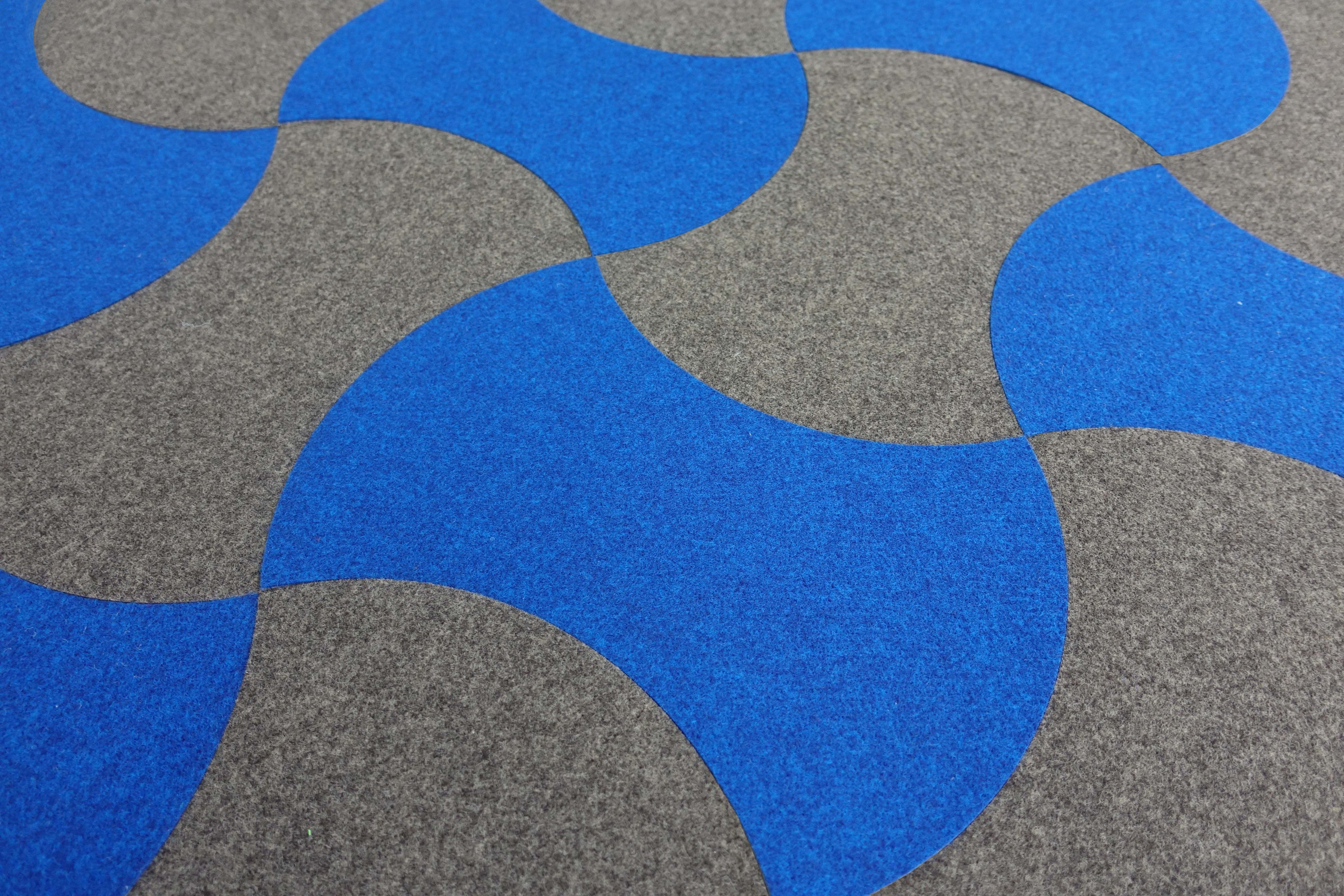 Donkersloot felt floor wall tiles core in blue and grey donkersloot felt floor wall tiles core in blue and grey doublecrazyfo Choice Image
