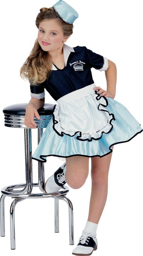 Car Hop Girl Costume for Girls - Party City costome for hallowen - party city store costumes